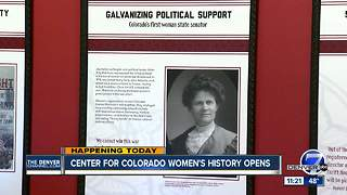Center for Colorado Women's History at the Byers-Evans House opens - Video