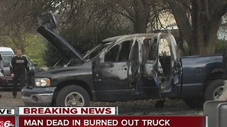 Body of man found in burned out pickup - Video