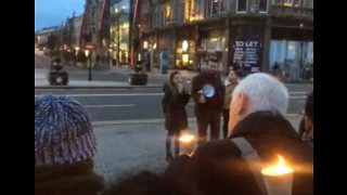 Candlelight Vigil for Christchurch Victims Held in Belfast - Video