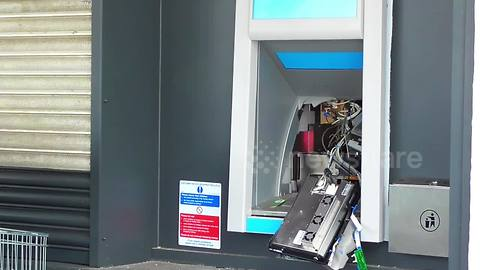 ATM damaged in apparent robbery attempt in small English town