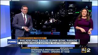 Eagles fans set for Super Bowl parade - Video