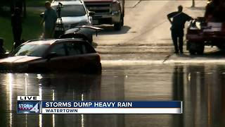 Flash flooding ravages Watertown after heavy rains