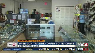 Gun shop offering free gun training - Video