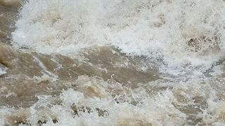 Raging River Seen in Honshu After Typhoon Rain Hits - Video