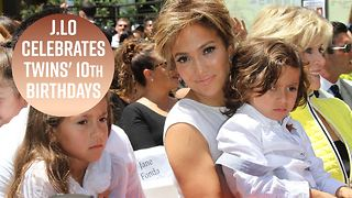 J.lo throws totally normal kids B-day party for twins - Video