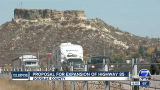 Proposal for expansion of Highway 85 - Video