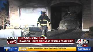 Fire totals two cars, damages attached garage in Leawood - Video