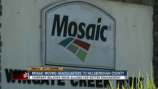 The Mosaic Company announces plan to relocate headquarters to Hillsborough County, Florida - Video