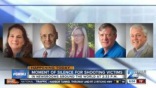 Moment of silence for Capital Gazette shooting victims