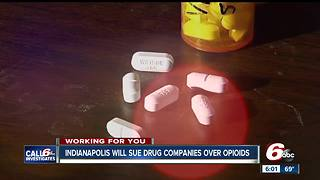 Indianapolis to sue opioid manufacturers, distributors - Video