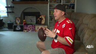 Chiefs fan elated over catching postseason game ball