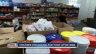 Children struggling for food after Irma - Video