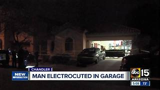 Chandler man accidentally electrocuted in garage - Video