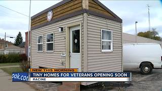 Tiny houses for veterans open this Sunday in Racine - Video