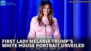 First Lady Melania Trump's White House Portrait Unveiled - Video