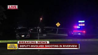 HCSO on scene of deputy-involved shooting in Riverview - Video