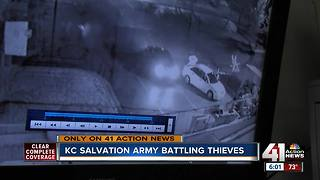 On video: Thieves hit local Salvation Army - Video