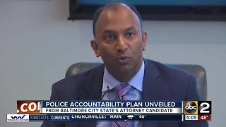Baltimore City State's Attorney candidate releases police accountability plan