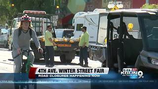 Fourth Avenue winter street fair road closures - Video