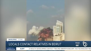 Locals contact relatives in Beirut