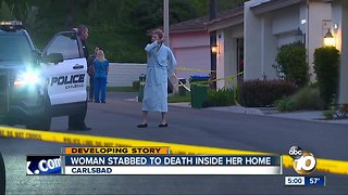 Woman stabbed to death in Carlsbad home during burglary
