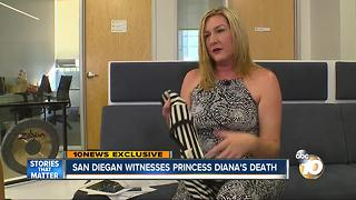 San Diegan witnesses Princess Diana's death - Video