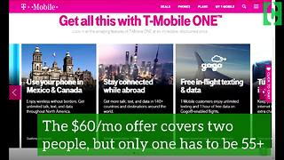 T-Mobile's great deal for people 55 and older! - Video