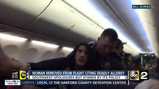 Woman Removed From Southwest Flight Because Of Deathly Dog Allergy - Video