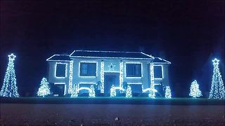 Christmas light show puts dark twist on a cheery song