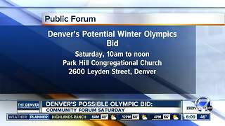 Olympic community forum Saturday