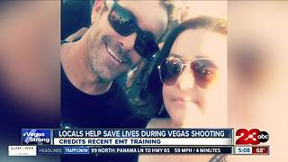 Man credits EMT training for his ability to help save lives during Vegas shooting - Video