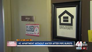 Weekend without water at KC apartment complex - Video