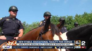 New facility being built for Baltimore Police Department's mounted unit - Video