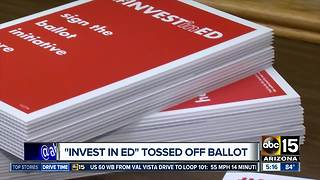 'Invest In Ed' tossed off ballot - Video
