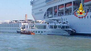 Runaway cruise ship crashes into small ferry in Venice