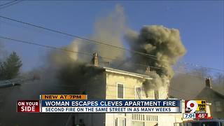 Cleves woman and her dog escape fire - Video