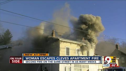 Cleves woman and her dog escape fire