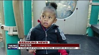 3-year-old boy found stabbed to death in Inkster, mother in custody