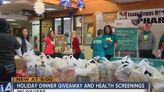 Health group hosts holiday dinner giveaway - Video