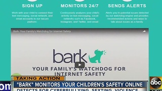 'Bark' monitors your children's safety online - Video