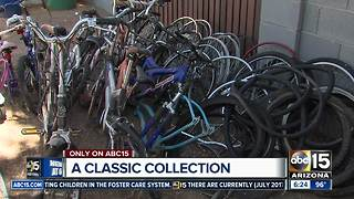 Bike collection being donated after owner passed away - Video