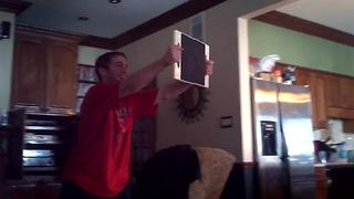 Father And Son Karate Board Challenge