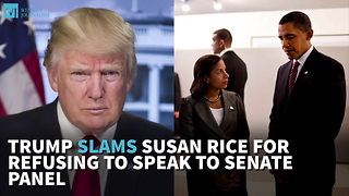 Trump Slams Susan Rice For Refusing To Speak To Senate Panel - Video