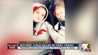 Mother and 14-month-old killed in crash