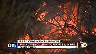 Ranch owner called 911 to report brush fire - Video