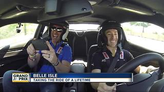 Riding around Belle Isle with Simon Pagenaud - Video