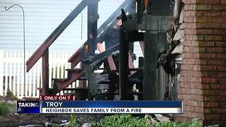 Troy family thanks neighbor for saving them from fire - Video