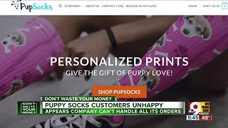 Puppy Socks customers unhappy about long wait