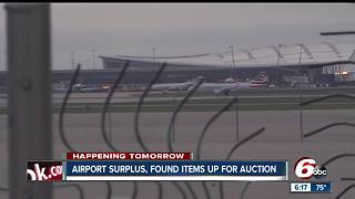 Items up for bid at Indianapolis airport unclaimed and surplus items auction - Video