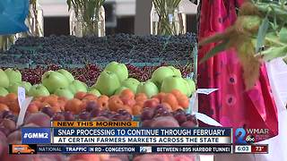 SNAP benefits to continue to be accepted at MD farmers markets - Video